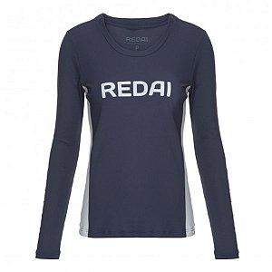 Camiseta de Pesca Feminina Redai Perfomance Team Azul