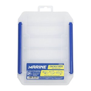 Estojo p/ Isca Marine Sports MTB205 Tackle Box 20,5cmx15,5cmx3,5cm c/ 5 Divisórias