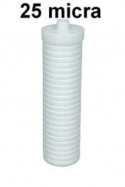 Elemento filtrante em Polipropileno CM 200 com rosca 1/2 25 Micras