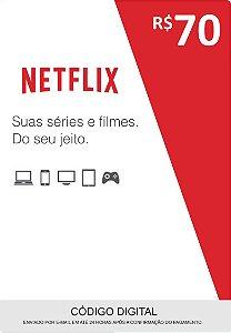 Cartão Pré-Pago Netflix R$70