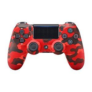 Controle Ps4 Camuflado Vermelho - Dualshock 4