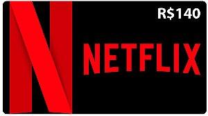 Cartão Netflix Pré-pago R$140