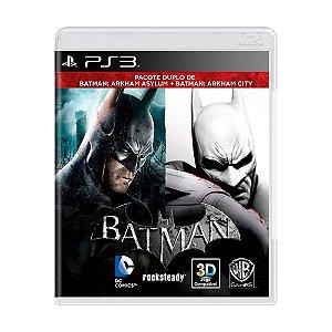 Batman: Arkham Asylum + Batman: Arkham City PS3 - USADO