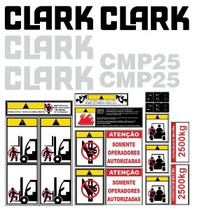 KIT DE ADESIVOS CLARK C25L