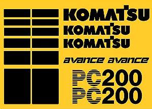 Kit Adesivos Komatsu Pc200 Avance