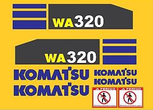 Kit de Adesivo Komatsu WA320