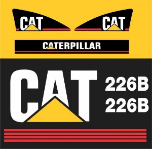 Kit de Adesivos Caterpillar 226b