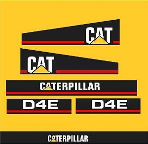 Kit Faixa Adesivo Caterpillar D4E