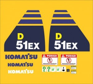 ADESIVOS KOMATSU D51EX