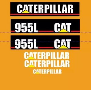 Kit Adesivo Decalque Caterpillar 955L
