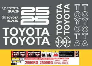 Adesivos Empilhadeira Toyota 8FG25