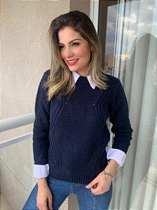 Blusa Tricô Jasmin Marinho