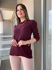 Blusa Tricô Carolina Marsala