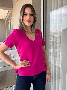 Blusa em Viscose Tiffany Pink