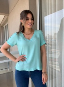 Blusa em Viscose Tiffany Menta
