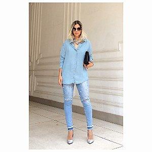 Maxi Camisa Jeans Mel