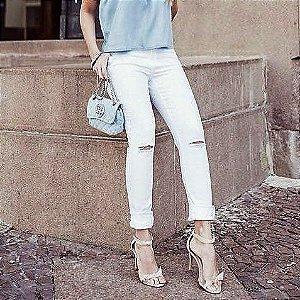 Calça Skinny Branca Mariana