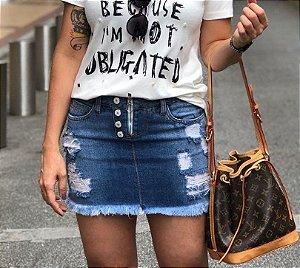 Saia Jeans Botões Livia