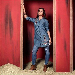 Maxi Camisa Jeans Liana
