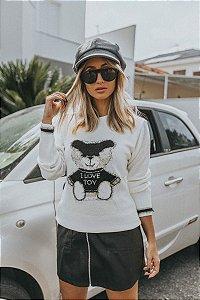 Blusa Tricô Urso