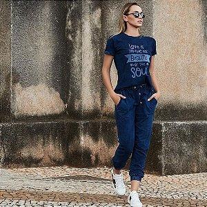 Calça em Malha Jeans Alegra