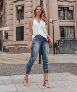 Calça Jogger Jeans Alícia