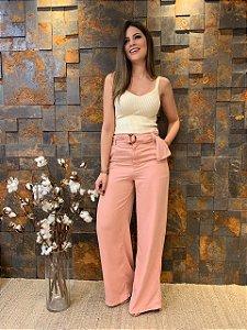 Calça Pantalona Color Rosé
