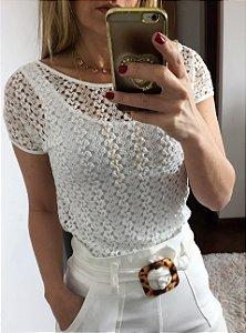 Blusa Renda Francine Branca