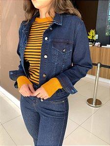 Jaqueta Jeans com Elastano