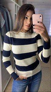 Blusa Tricô Canelado Clarisse