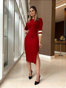 Vestido Trico Manuela Vermelho