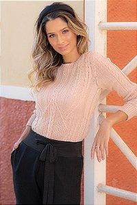 Blusa Tricô Yasmin Rosé