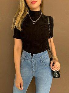 Blusa de Tricô Ana - Black