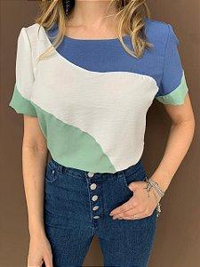 Blusa Crepe Tiffany Verde