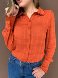 Camisa Alexandra Terracota