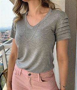 T-shirt Melissa Cinza