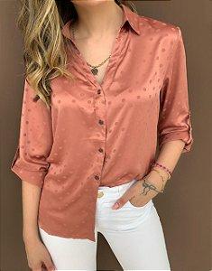 Camisa Poá Rosé