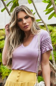 T-shirt Dora Lilás