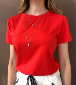 T-shirt Essential G. Redonda - Vermelha