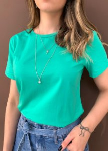 T-shirt Essential G. Redonda - Verde Turquesa