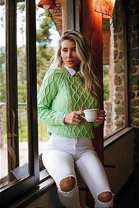 Blusa Tricô REbeca Verde