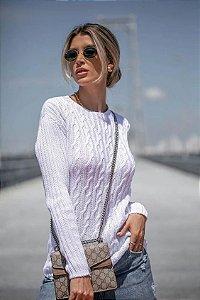 Blusa Tricô Olívia Branca