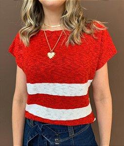 Blusa Tricô Rose Vermelho