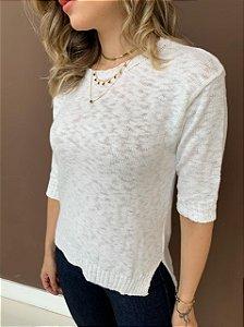 Blusa Tricô Célia Branca