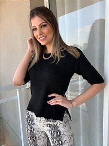 Blusa Tricô Célia Preta