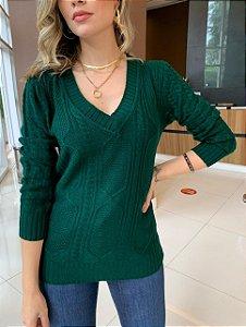 Blusa Tricô Melinda Verde