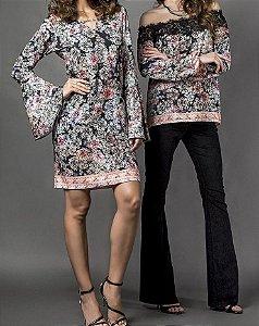 Vestido Floral Buquê - Absolutti 6099