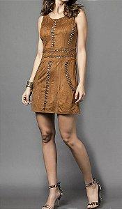 Vestido Trançado Camurça - Absolutti 6055