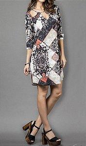Vestido Floral Losango - Absolutti 6090
