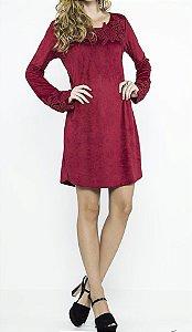 Vestido Suede Guipir - Absolutti 6150